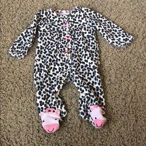 Carter's newborn sleeper. Button closure.